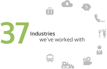 37 Industries we've worked with